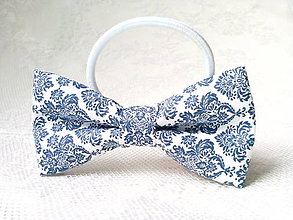 Ozdoby do vlasov - Blue orient hair bow - 9296921_