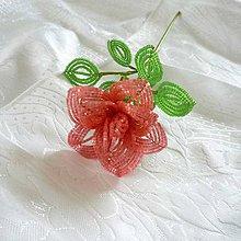 Dekorácie - Růže velká - malinová - 9294137_