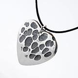 Náhrdelníky - Trsátko Heart s očkem - nerezová ocel - 9294433_
