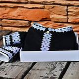 Oblečenie - Čierna -bielo sivá výšivka - 9297252_