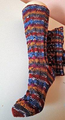 Obuv - Ponožky írske vysoké-z certifikovanej originál ponožkovej priadze - 9298121_