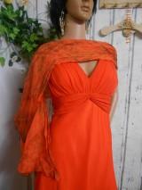 Šaty - Terakota s nádychom orientu - hodvábne šaty s hodvábnym plédom - 9297727_