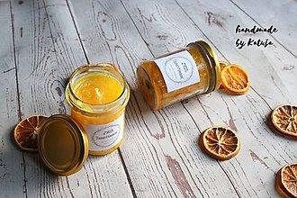 Svietidlá a sviečky - šťavnatý pomaranč (šťavnatý pomaranč malá) - 9296536_