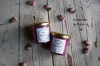 Darčeky pre svadobčanov - handmade sviečka višňa v marcipáne (mini) - 9296568_