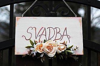Tabuľky - Svadobná tabuľka - 9296244_