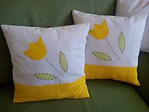 Úžitkový textil - vankúš s tulipánom - 9294361_