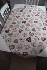 Úžitkový textil - UBRUS ... srdíčka - 9295066_