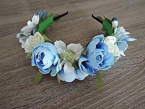 Ozdoby do vlasov - Čelenka modrá - 9296586_