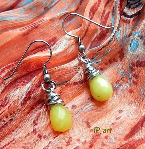 Náušnice z minerálu olive jade
