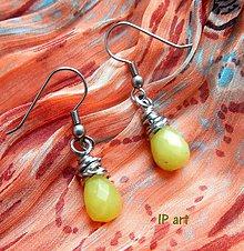 Náušnice - Náušnice z minerálu olive jade - 9297208_