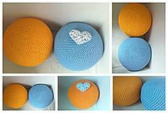 Úžitkový textil - Háčkovaný PUF svetlomodrý bavlna - 9295203_