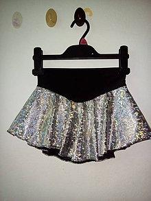 Sukne - Lesklá sukňa na krasokorčuľovanie - 9296395_