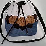 Kabelky - Romantická kabelka denim - Izabela - 9296524_
