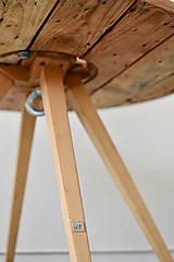 Nábytok - Stolík zo špulky na kábel - 9295371_