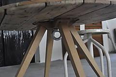 Nábytok - Stolík zo špulky na kábel - 9295391_