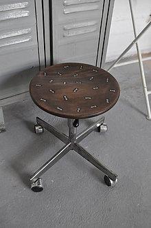 Nábytok - Klavírová otočná stolička - 9297515_