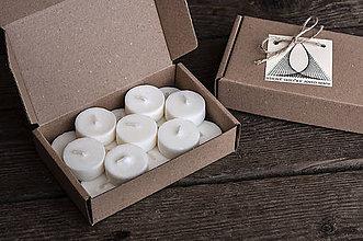 Svietidlá a sviečky - Sójové čajové sviečky 15 ks (náplne) - 9295364_