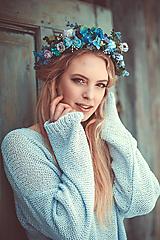 Ozdoby do vlasov - Modrý lúčny venček - 9298558_