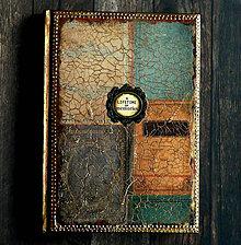 Papiernictvo - Luxusný vintage manager diár 2018 Staré knihy/jediný kus - 9297136_