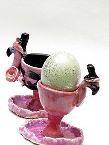 Nádoby - stojan na vajíčko  plameniaka - 9295450_