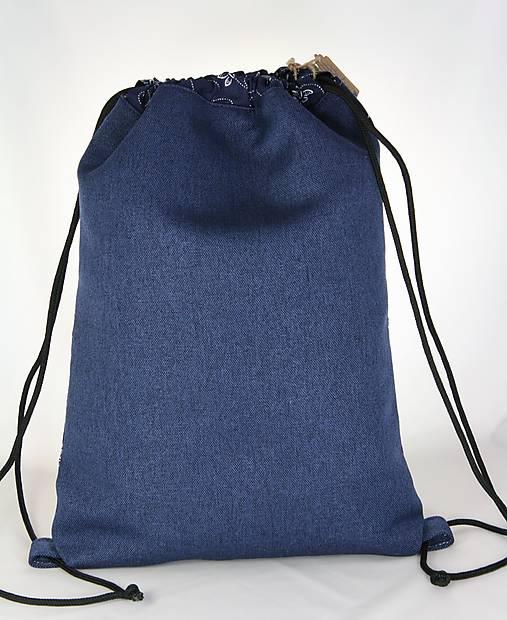 batoh Libena modrotlačový 5