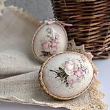 Dekorácie - Sada dvoch kraslíc - Ružičky - 9298301_