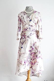 Šaty - Kvetované zavinovacie šaty  - 9296084_