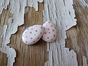 Náušnice - veľkonočné vajíčka-napichovačky (s ružovými bodkami) - 9297971_