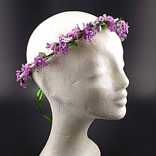 Ozdoby do vlasov - Spring Violet ... věnec - 9302231_