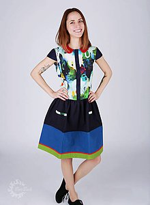 Šaty - Farebné šaty pre odvážnu žienku - 9298964_