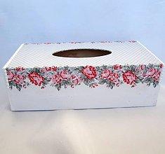 Krabičky - Krabica na papierové vreckovky-Shirley - 9302675_