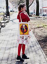 Nákupné tašky - Netradičný účes/ #bumpkinovejtaška - 9301324_