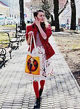 Nákupné tašky - Netradičný účes/ #bumpkinovejtaška - 9301325_