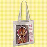 Nákupné tašky - Netradičný účes/ #bumpkinovejtaška - 9301328_