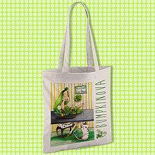 Nákupné tašky - Dnešný obed/ #bumpkinovejtaška - 9301220_