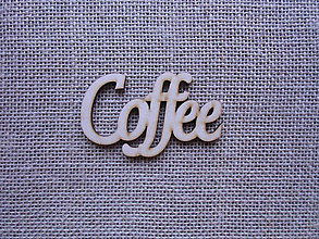 Polotovary - Výrez z preglejky - Coffee, 9 cm - 9300960_