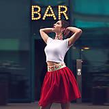 Sukne - Mini červená sukňa s výšivkou - 9299375_