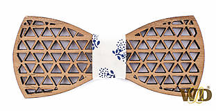 """Doplnky - Pánsky drevený motýlik """"Triangel"""" - 9302377_"""