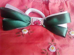 Ozdoby do vlasov - folk gumička s makovým kvetom I - 9299252_