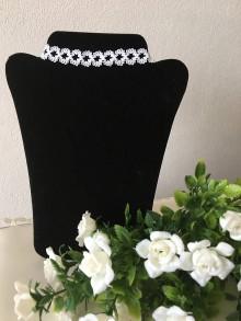 Náhrdelníky - Obojkový náhrdelník (Biela) - 9298797_