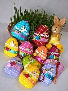 Dekorácie - Textilné vajíčka... - 9300982_