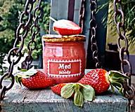 Potraviny - Med a jahody - 9301525_