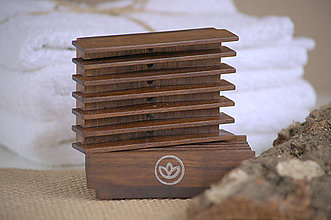 Nádoby - mydlovnička - orechové drevo - 9300833_