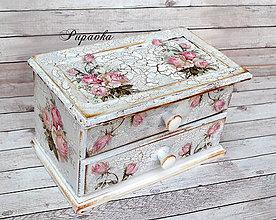 Krabičky - Šperkovnička ružičky - 9299161_