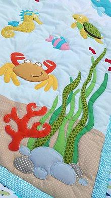Textil - deka s motívom podmorského sveta - 9301173_