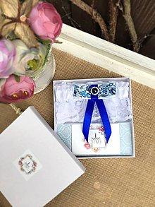 Bielizeň/Plavky - Svadobný podväzok v darčekovej krabičke - 9299752_