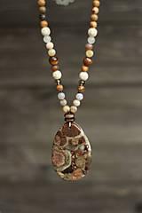 - Náhrdelník z minerálov jaspis, jadeit, tigrie oko - 9299955_