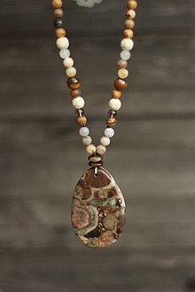 Náhrdelníky - Náhrdelník z minerálov jaspis, jadeit, tigrie oko - 9299955_