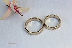 Prstene - Obrúčky s folklórnym ornamentom - Nitra - 9299606_