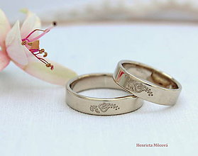 Prstene - Obrúčky s folklórnym ornamentom - Nitra - 9299603_